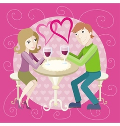 Date at restaurant vector image vector image