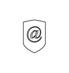 email security icon vector image vector image