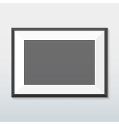horizontal mount black frame mockup vector image