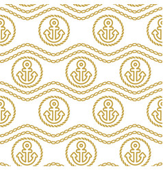 seamless pattern with anchors ongoing backgrounds vector image vector image
