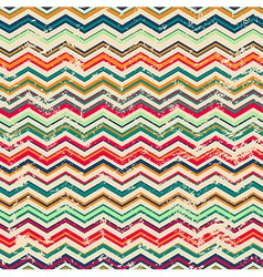 vintage zigzag seamless pattern with grunge effect vector image