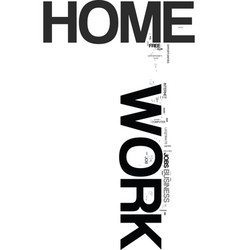 work at home keywords text word cloud concept vector image vector image