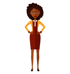 African american worried woman vector image vector image
