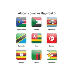 African countries flags set 6 vector image