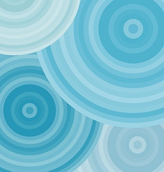 Blue ripples circles abstract background vector image