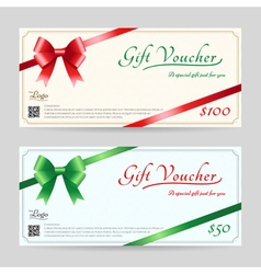 Christmas gift card or gift voucher template vector image