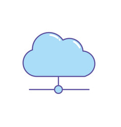 cloud data connection network information vector image vector image