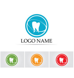 dental care logo and symbols template icons app vector image