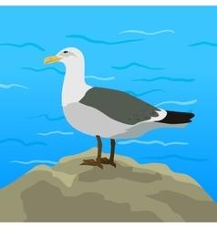 Gull Flat Design vector image