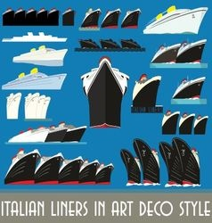 Italian Liners in Art Deco Style vector image