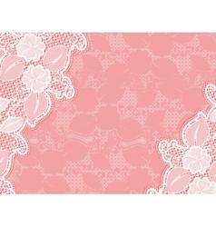 Lace invitation design template sample wedding vector image