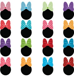 Polka Dot Bow Set vector image