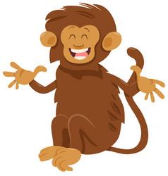 shaggy monkey animal character vector image vector image