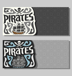 banners for pirate theme vector image