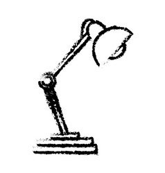 desk lamp light work object sketch vector image vector image