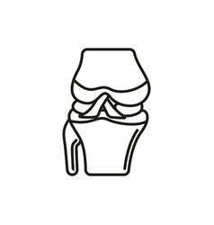 knee joint icon on white background vector image
