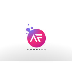 Af letter dots logo design with creative trendy vector