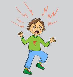 Angry kid vector