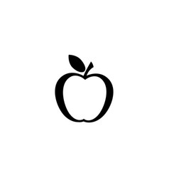apple line icon in black vector image