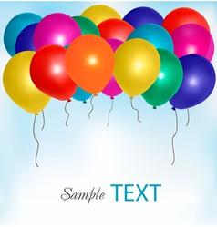 balloons frame composition vector image