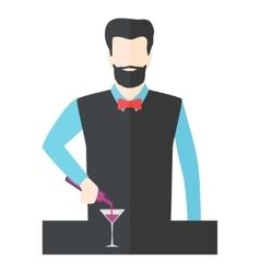 Bartender barman vector