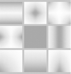 Black and white circle pattern set vector