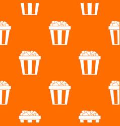 box of popcorn pattern seamless vector image