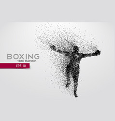 boxer silhouette from particles vector image
