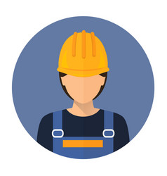 builder builder in protective clothing and helmet vector image