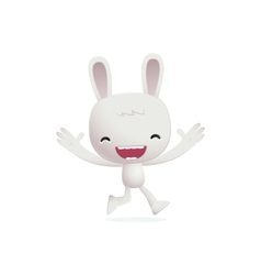 bunny in various poses vector image vector image