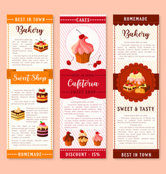 cake bakery and pastry dessert banner template vector image