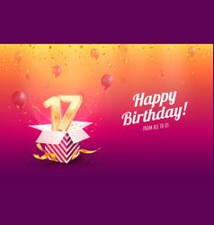 Celebrating 17 th years birthday vector