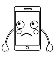 Cellphone kawaii icon image vector