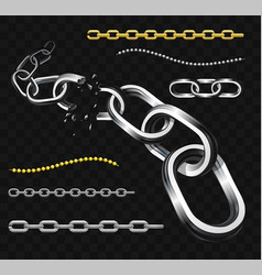 Chains - modern realistic isolated clip art vector