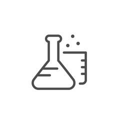 chemistry line icon vector image