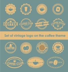 Coffee logo 4 vector image