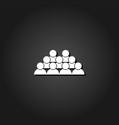 crowd of people icon flat vector image