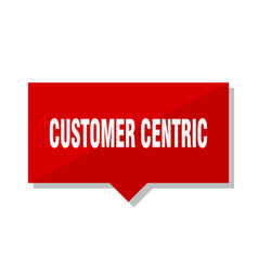 customer centric red tag vector image