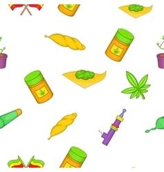 Drug pattern cartoon style vector