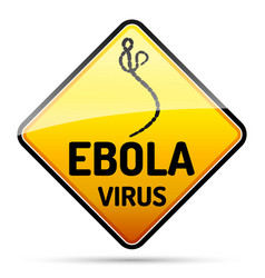 Ebola virus warning sign with reflect and shadow vector