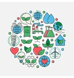 Ecology colorful vector image