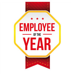 Employee year award badge vector