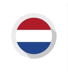 Flag netherlands vector