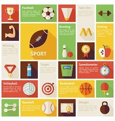 Flat Design Icons Infographic Sport Recreation vector