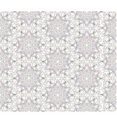 Floral seamless pattern flourish tiled oriental vector