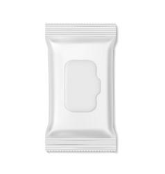 Flow pack wet wipes packs hygiene medicine vector