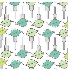 Fresh leaf to prepair natural salad background vector