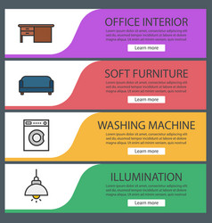furniture banner templates set vector image