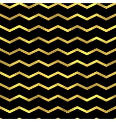 Gold glittering zigzag wave backgrouns vector image