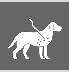 Guide dog icon cane day vector